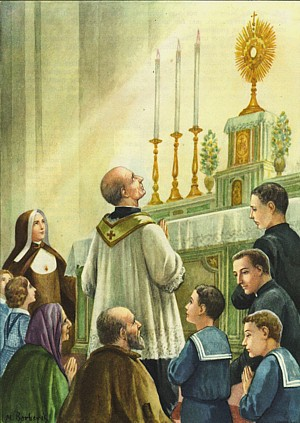 St Annibale - First coming of Jesus in the Blessed Sacrament to the Institute