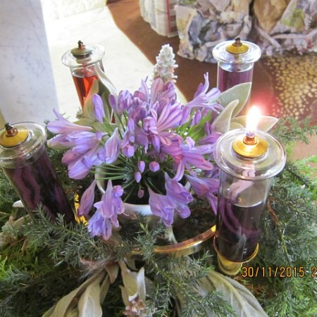 Advent Wreath: 1st Sunday of Advent